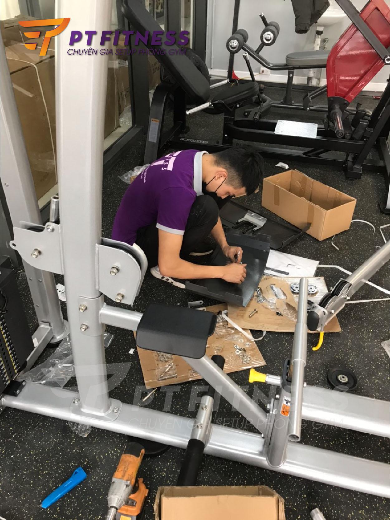 setup phòng tập gym 300m2 imperia fitness tại hà nội